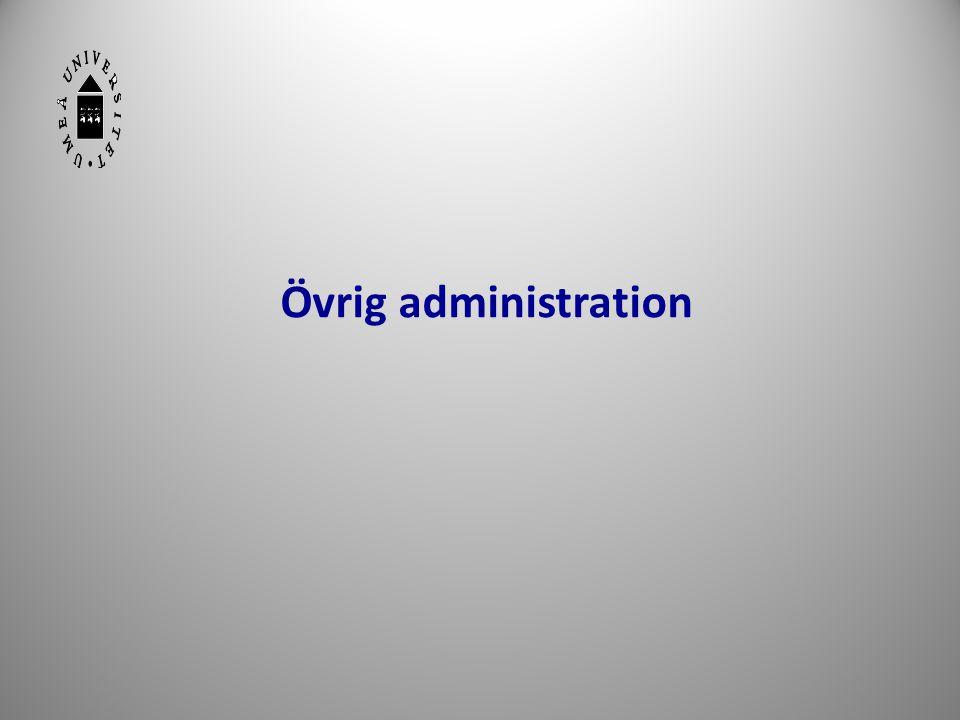 20 Övrig administration