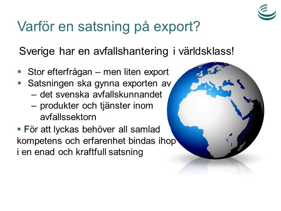 Varför en satsning på export.