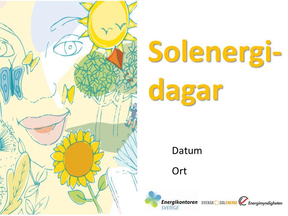 Solenergi-dagar Datum Ort