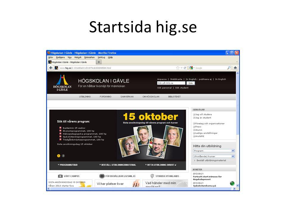 Startsida hig.se