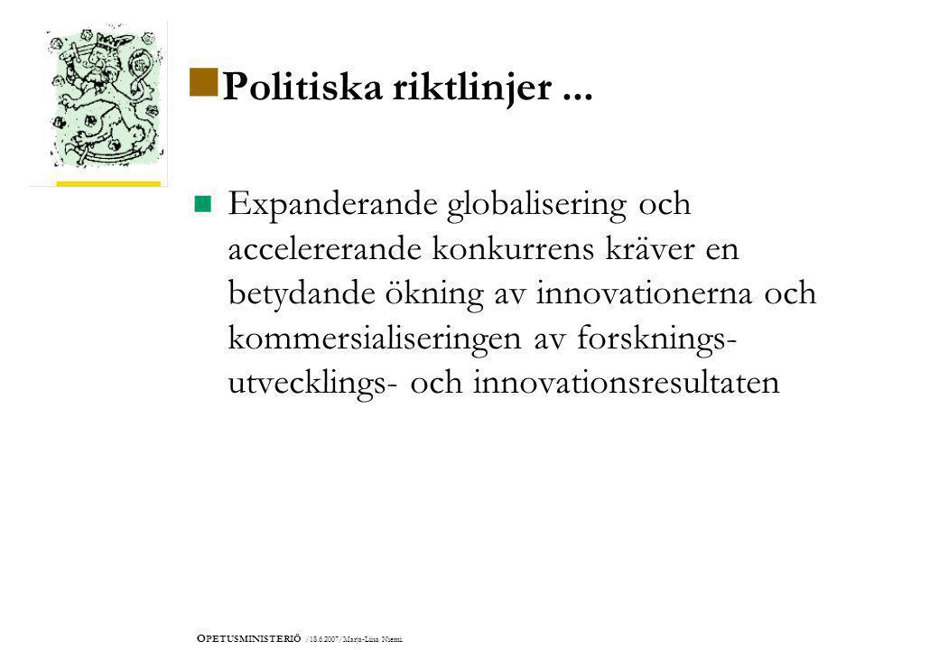 O PETUSMINISTERIÖ /18.6.2007/Marja-Liisa Niemi.