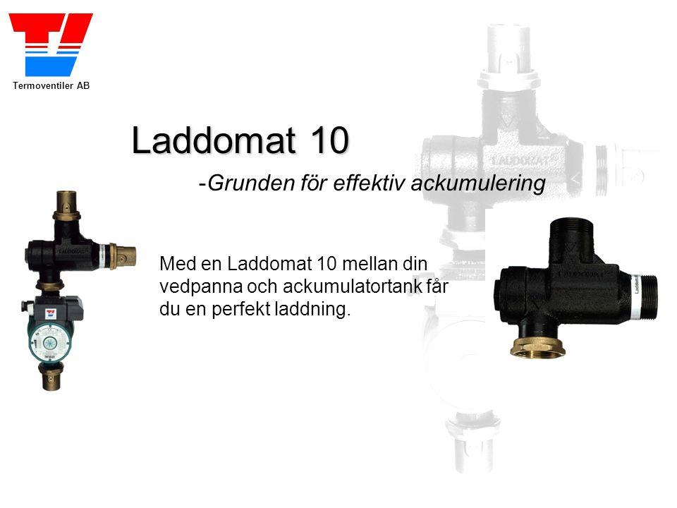 Termoventiler AB Laddomat 10 -Grunden för effektiv ackumulering Med en Laddomat 10 mellan din vedpanna och ackumulatortank får du en perfekt laddning.