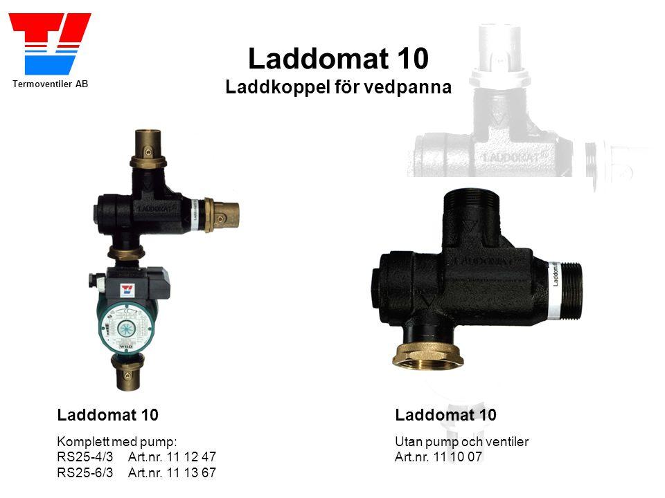 Termoventiler AB Laddomat 10 Laddkoppel för vedpanna Laddomat 10 Utan pump och ventiler Art.nr.