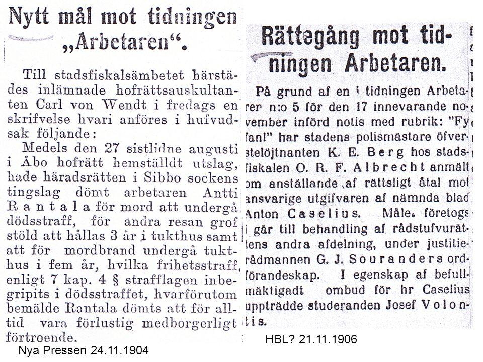 Nya Pressen 24.11.1904 HBL? 21.11.1906