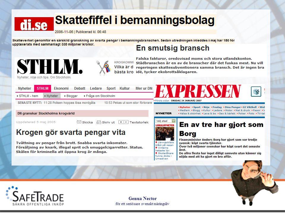Genua Nector för ett seriösare svenskt näringsliv Den allmänna bilden Hur ser det ut i din kommun?