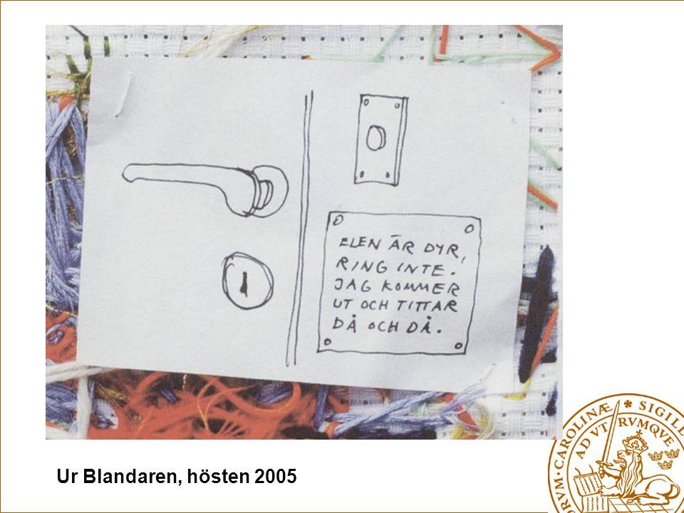 Ur Blandaren, hösten 2005