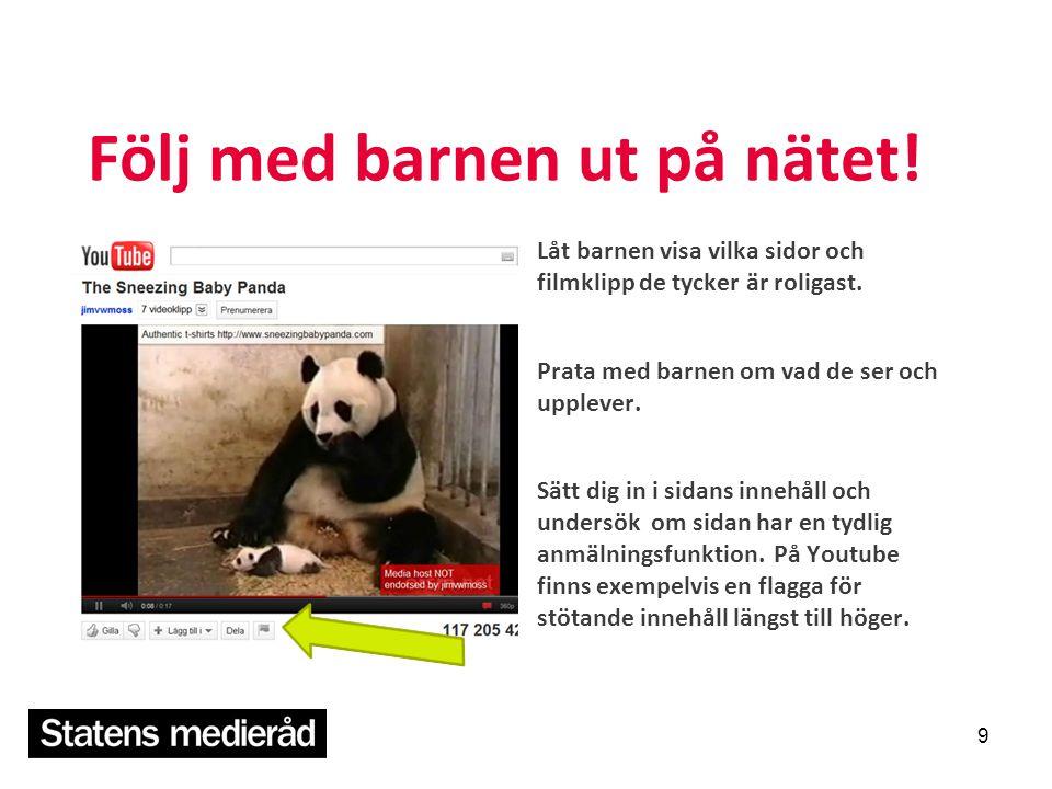 Läs mer och beställ material www.mediebarn.se Mediebarn är en sajt för vuxna om barns och ungas datorvanor.