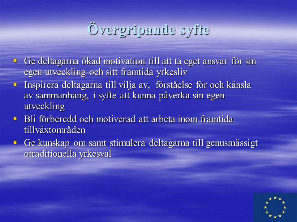 Rekrytering till projektet Deltagare rekryteras från  Arbetsförmedlingen  Försäkringskassan  Bollnäs kommun