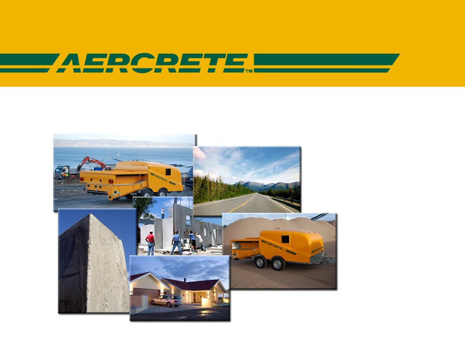 AERCRETE FC - Egenskaper • Reglerbar densitet 400 – 1800kg/m 3.
