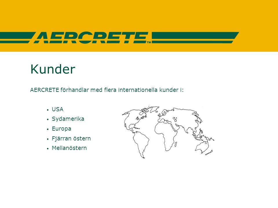AERCRETE FC - Tester Det har gjorts ett flertal tester med mycket goda resultat av bl.a: • TPD (Technisch Physische Dienst) Holland • KMA (Koniklijke Militaire Academie) Holland • SGI (Statens Geotekniska Institut) Sverige • Cementa, Sverige