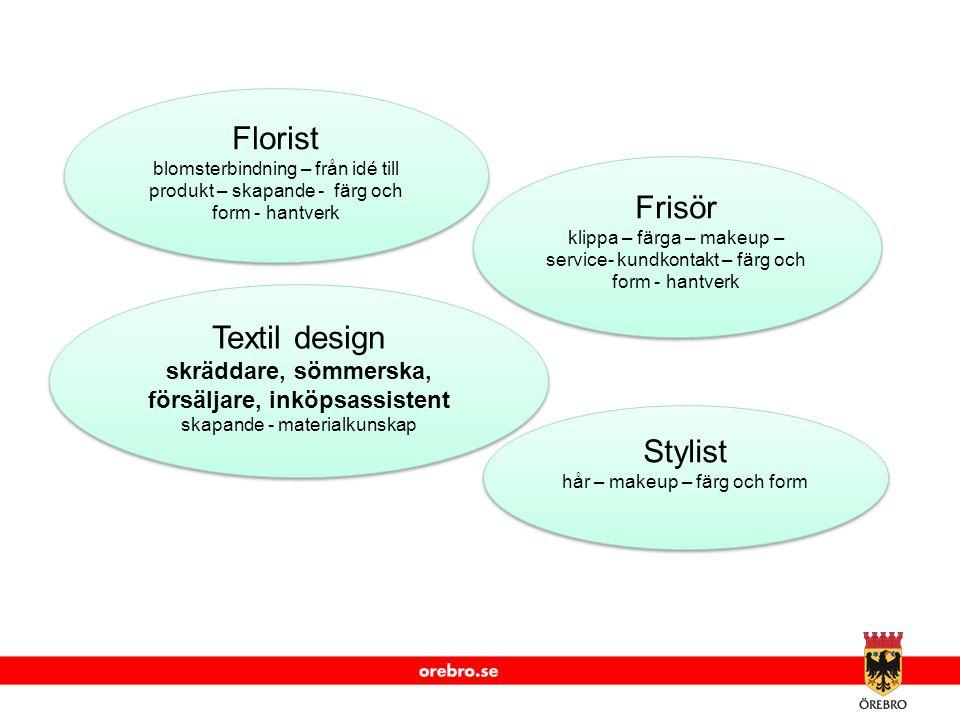 www.orebro.se Florist blomsterbindning – från idé till produkt – skapande - färg och form - hantverk Florist blomsterbindning – från idé till produkt