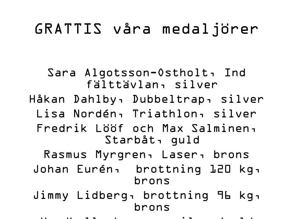 Homecoming för medaljörer.
