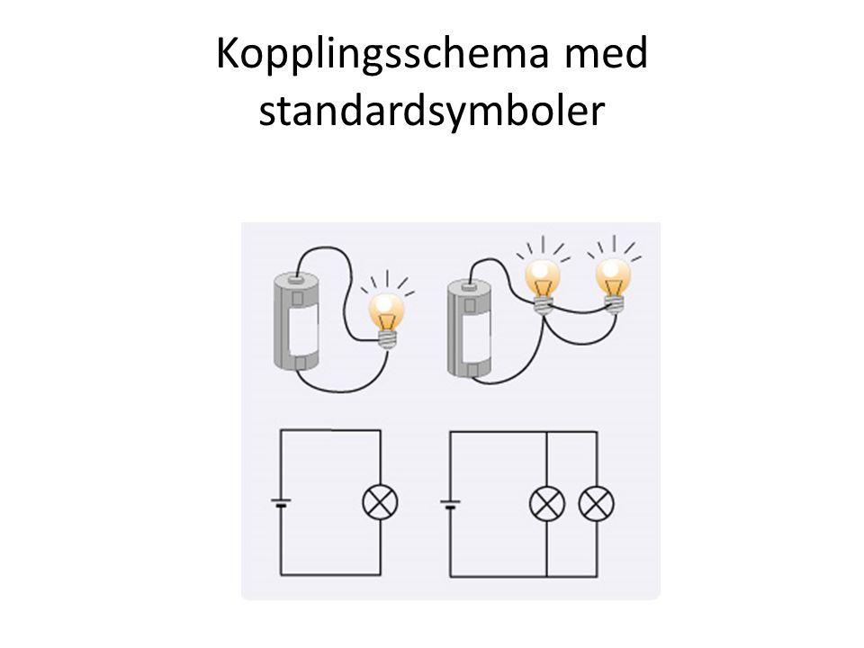 Kopplingsschema med standardsymboler