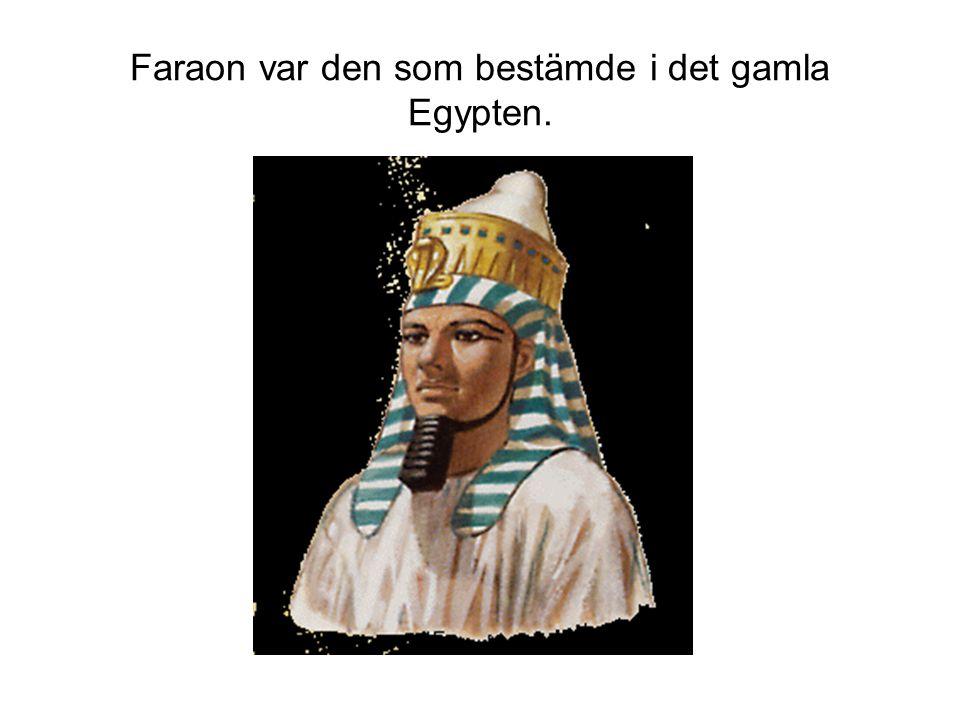 Faraon var den som bestämde i det gamla Egypten.