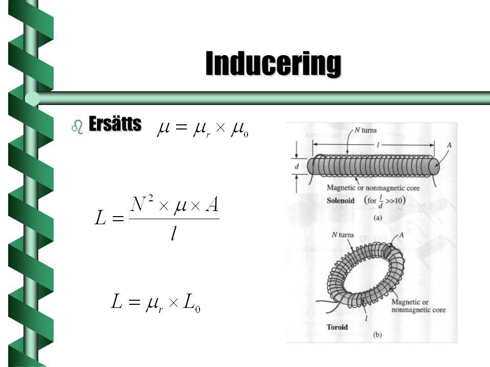 Inducering b Ersätts