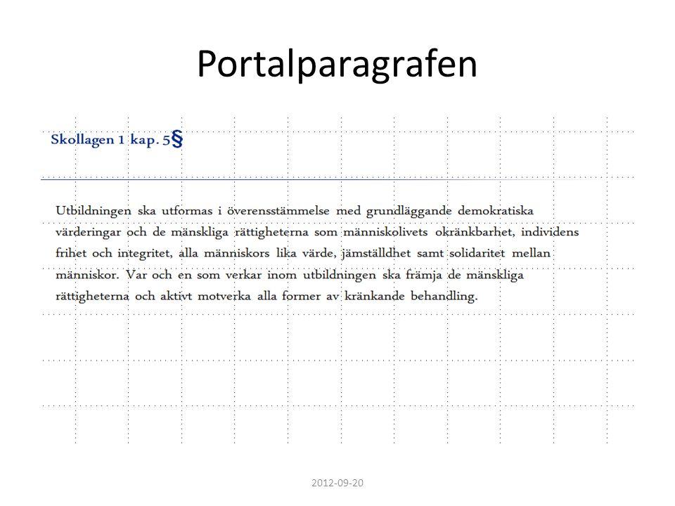 Portalparagrafen 2012-09-20
