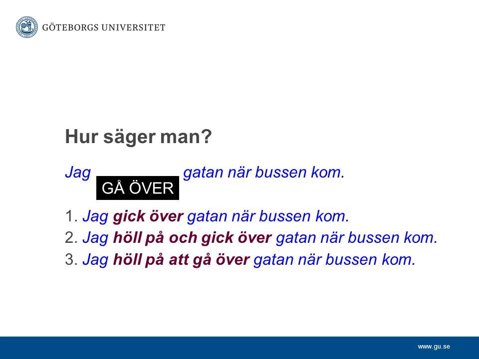 www.gu.se Ej alltid utbytbara (II) Johansson, Bengt 1987.