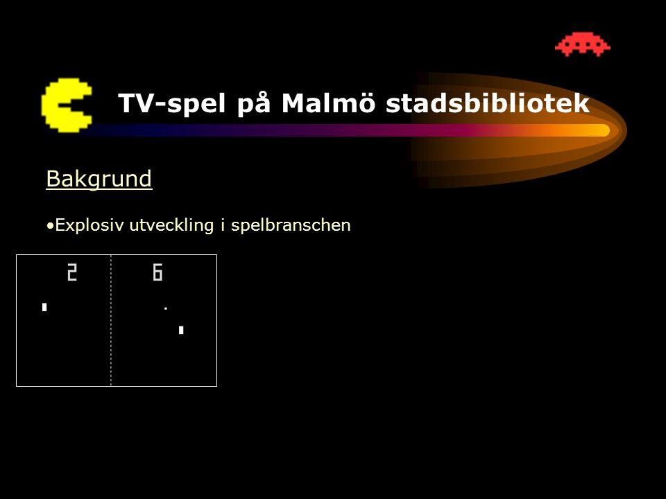 TV-spel på Malmö stadsbibliotek Vad har hänt under det första året.