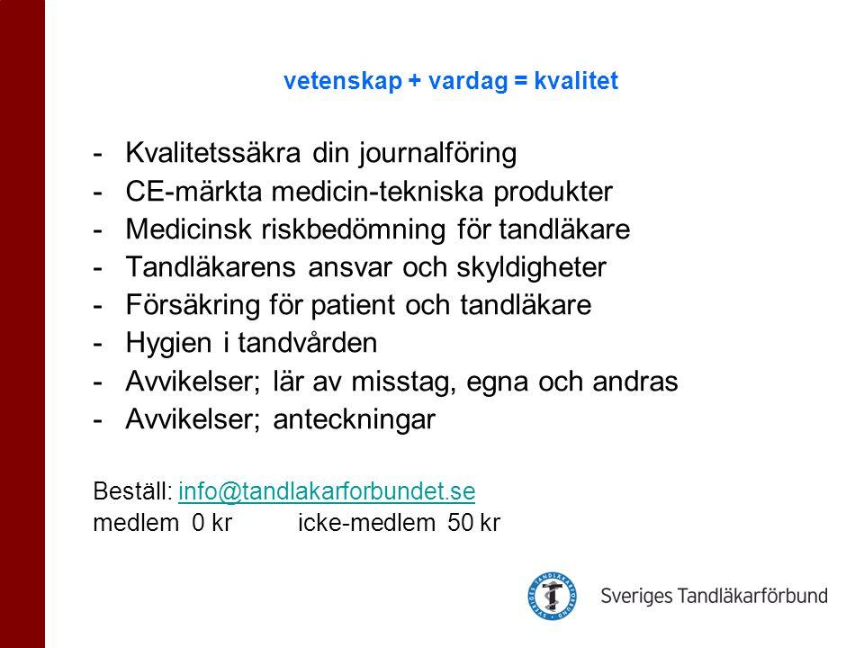 Patientsäkerhetslagen (2010:659) innebär både nya krav och nya möjligheter.