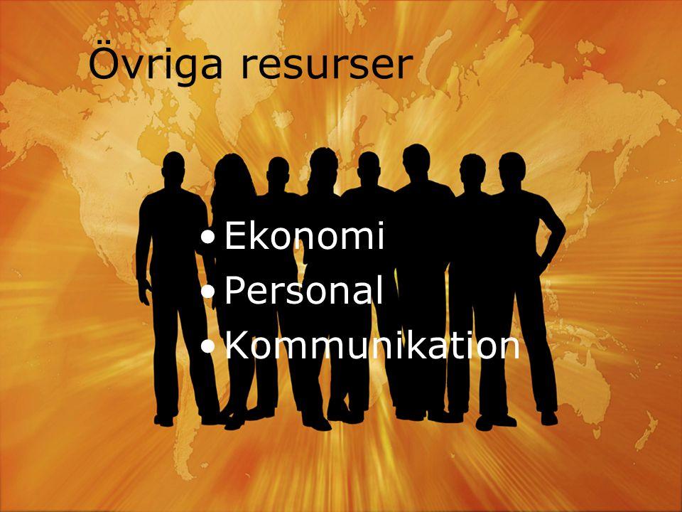 När vård I SÖRMLAND Kommuner och Landsting i samverkan Övriga resurser •Ekonomi •Personal •Kommunikation