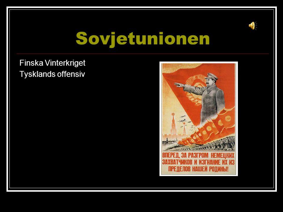 Sovjetunionen Finska Vinterkriget Tysklands offensiv