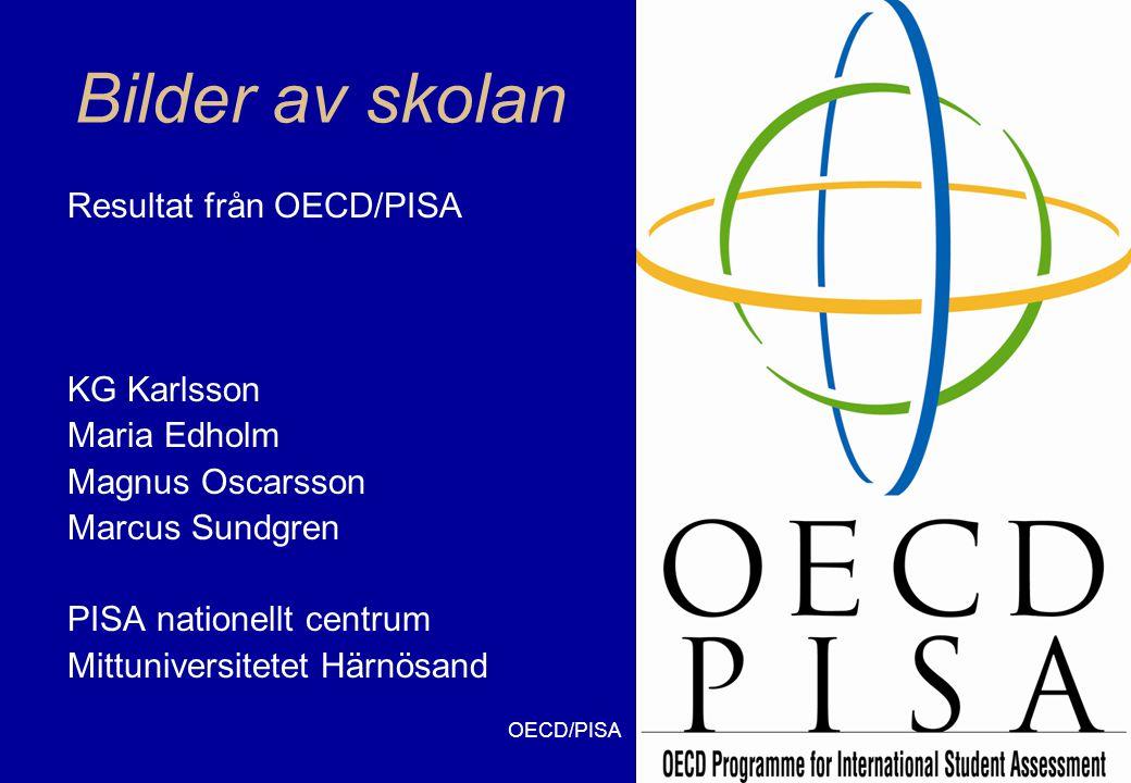 OECD/PISA12 Sammanhang Hälsa (26) Naturresurser (17) Miljö (20) Risker (15) Naturveten- skapens frontlinjer (27) Personlig Hålla sig frisk, förhindra olyckor, diet Egen användning av resurser och energi Egen sophantering Risker på personlig nivå, beslut om bostad och dylikt Naturfenomen, sport och fritidsaktiviteter, musik, tekniska prylar Samhällelig Sjukdomskontroll, kostråd, folkhälsa Livskvalitet, produktion och distribution av mat, energiförsörjning Avfallshantering, lokalt väder Produktsäkerh et, bedömning av risker med brottslighet Nya material, genteknologi, vapenteknologi, transport Global Epidemier, global spridning av sjukdomar Förnyelsebara system, befolkningstillväxt Biologisk mångfald, hållbar utveckling, jordförstöring Klimatförändrin g, krig Rymden, universums ursprung och struktur