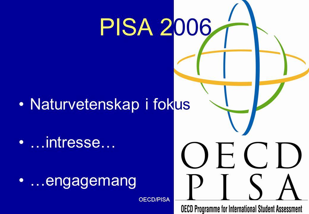 OECD/PISA35 PISA 2006 •Naturvetenskap i fokus •…intresse… •…engagemang