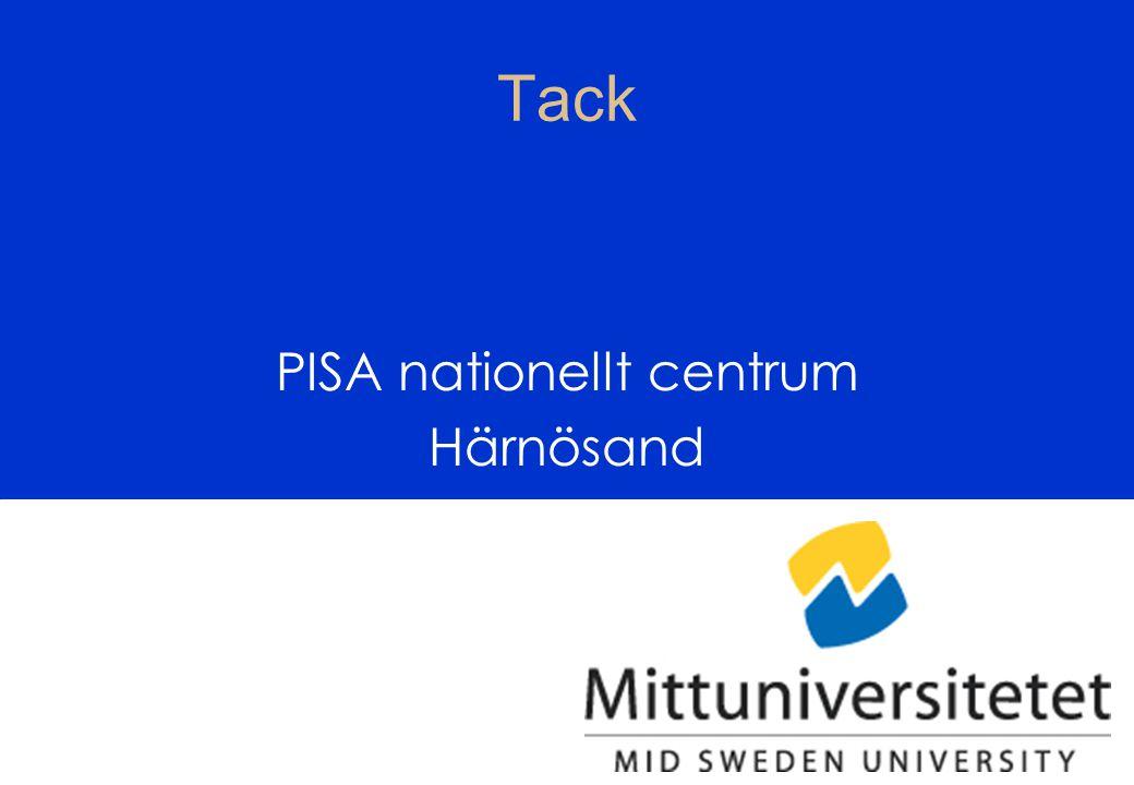 OECD/PISA47 Tack PISA nationellt centrum Härnösand
