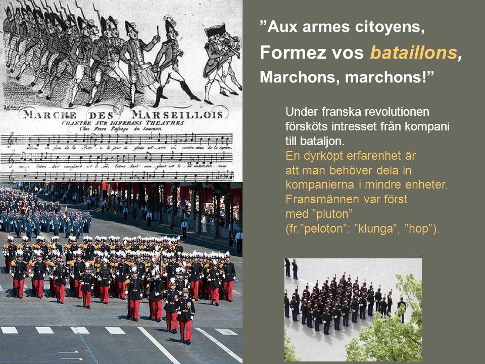 """""""Aux armes citoyens, Formez vos bataillons, Marchons, marchons!"""" Under franska revolutionen försköts intresset från kompani till bataljon. En dyrköpt"""