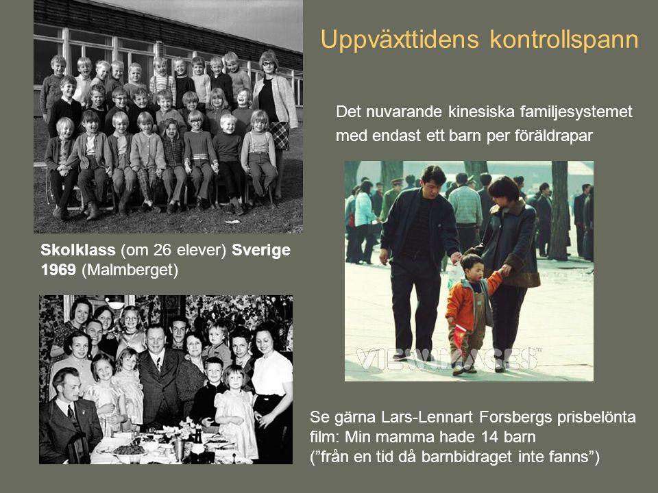"""Se gärna Lars-Lennart Forsbergs prisbelönta film: Min mamma hade 14 barn (""""från en tid då barnbidraget inte fanns"""") Skolklass (om 26 elever) Sverige 1"""