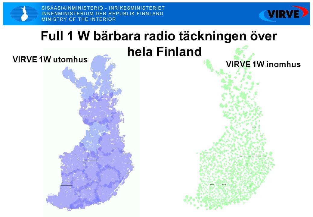 7 VIRVE 1W utomhus VIRVE 1W inomhus Full 1 W bärbara radio täckningen över hela Finland