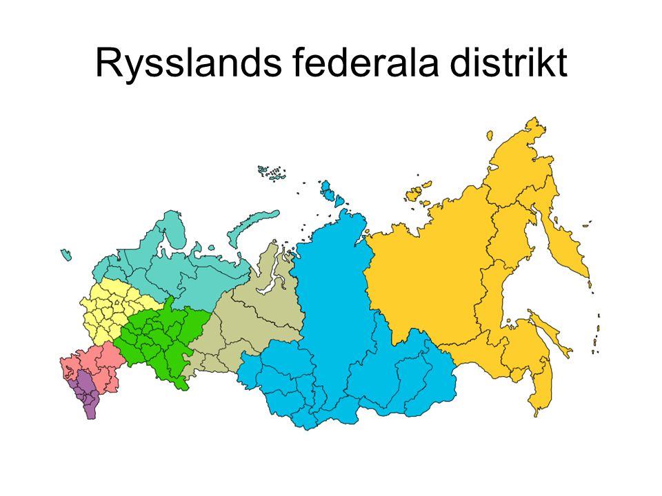 Politiska partier - Mitten •Partiet Förenade Ryssland – Putins parti.