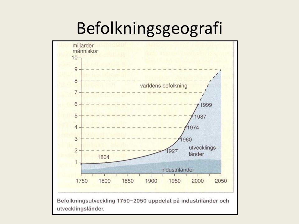 Befolkningskurva • http://www.youtube.co m/watch?v=QZPk2quRm KE&feature=related http://www.youtube.co m/watch?v=QZPk2quRm KE&feature=related • År 1900 – 1.65 miljarder ca • År 2011 – 7 miljarder ca… • Befolkningen ökar med ca 80 miljoner per år.