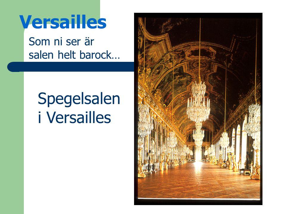Som ni ser är salen helt barock… Spegelsalen i Versailles