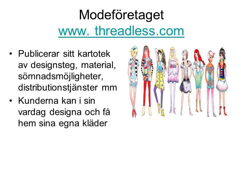 Modeföretaget www. threadless.com www.
