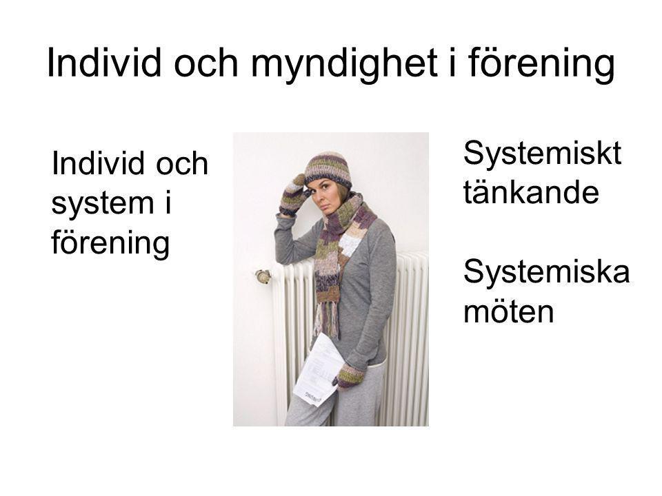 Individ och myndighet i förening Individ och system i förening Systemiskt tänkande Systemiska möten