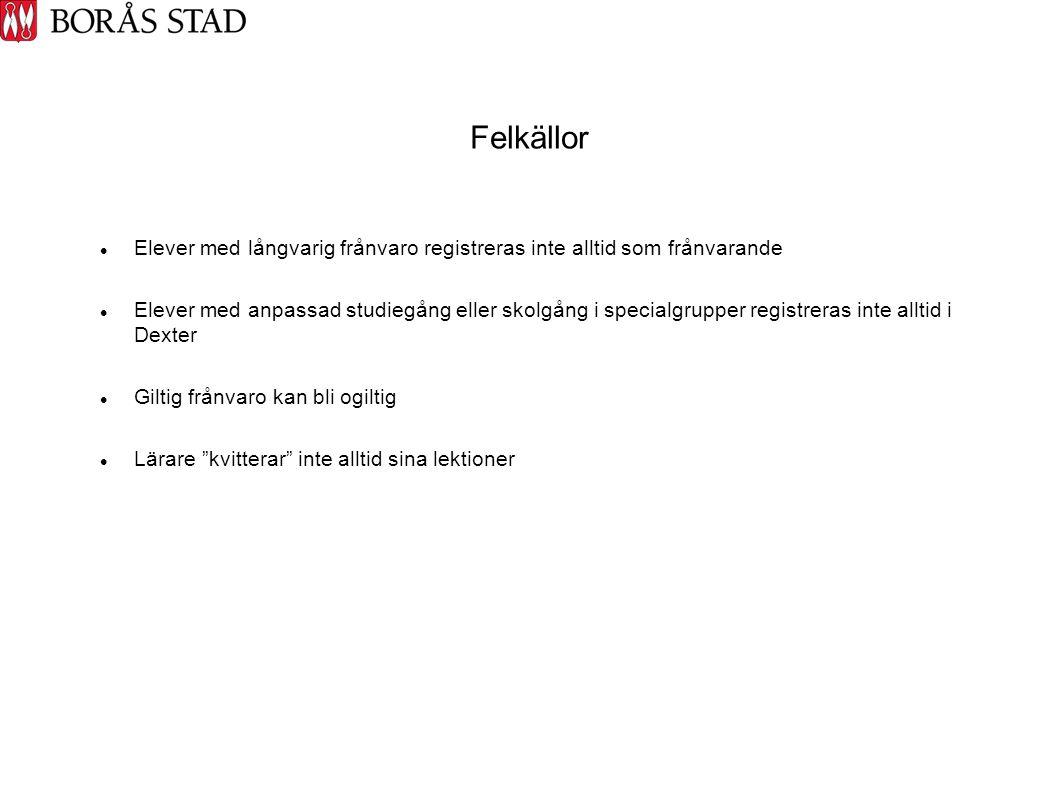 Ej kvitterad tid år 7-9 i procent 2009/2010  Bodaskolani.u/i.u  Dalsjöskolan22,91 / 19,54  Daltorpskolan4,54 / 2,17  Engelbrektskolan13,53 / 4,79  Erikslundskolan7,05 / 34,99  Fristadskolan9,44 / 12,91  Sandgärdskolan12,51 / 13,89  Särlaskolan12,37 / 15,02  Viskaforsskolan19,12 /21,07  Dessa siffror är ej tillförlitliga då flera skolor har årskurs 1-9 eller 4-9 i systemet men bara för frånvaro för högstadieeleverna.