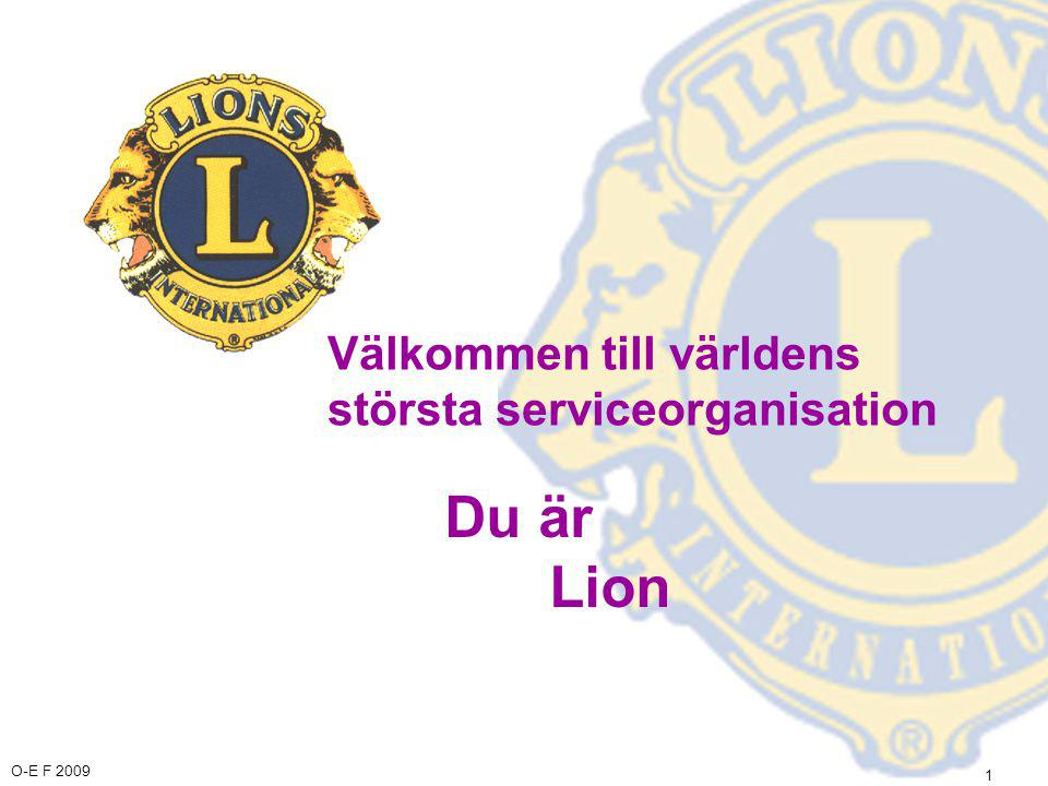 O-E F 2009 12 Lions Clubs International I Finland är vi stolta över: •Lions-Quest har utbildat mer än 13 000 finländska lärare •På säkerhetsdagen 2003 fick 680 000 barn,unga och vuxna en reflex av lionen på sin hemort •Som en del av lions arbete mot droger, får årligen hela åldersgruppen på grundskolans 5.