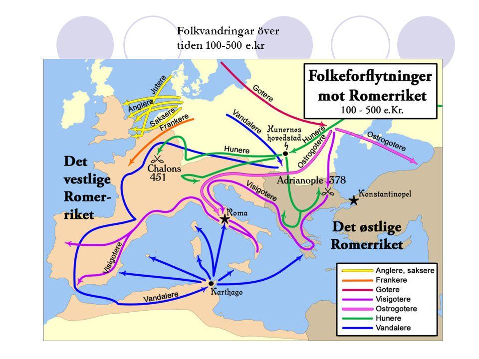 Folkvandringar över tiden 100-500 e.kr