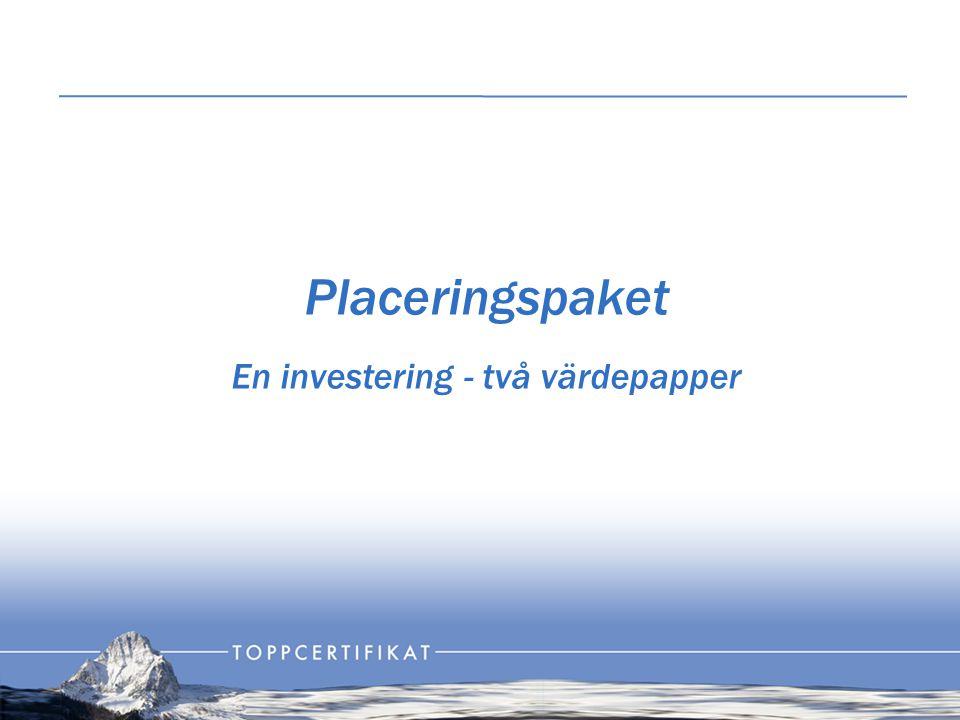 Placeringspaket En investering - två värdepapper