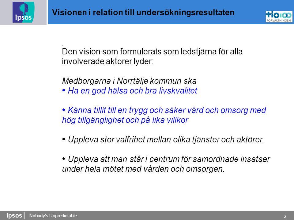 Ipsos | 2 Visionen i relation till undersökningsresultaten.