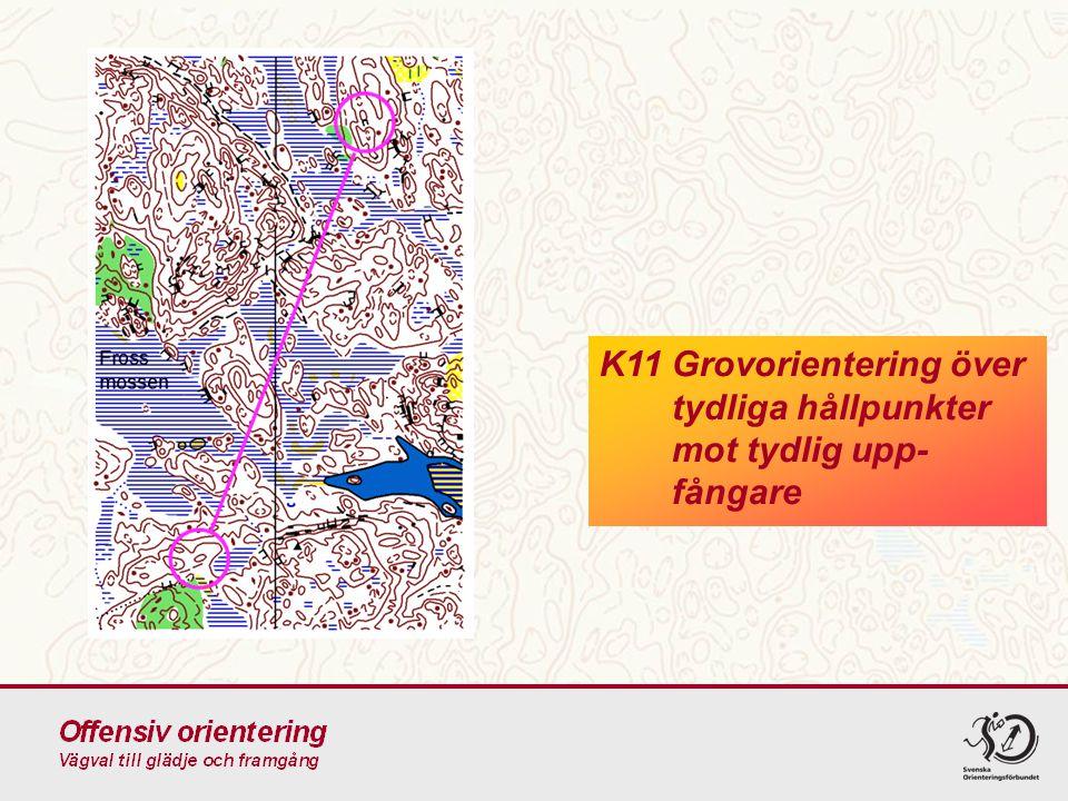 K11Grovorientering över tydliga hållpunkter mot tydlig upp- fångare