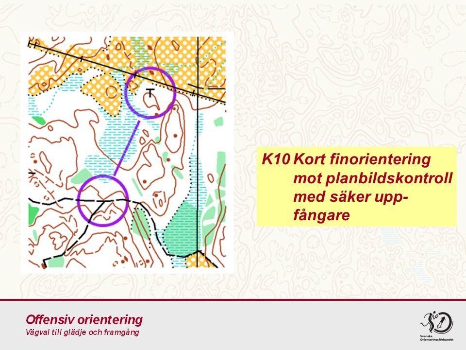 K10Kort finorientering mot planbildskontroll med säker upp- fångare