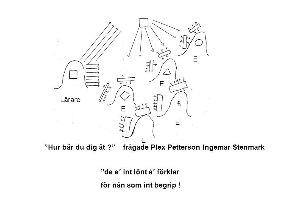 """""""Hur bär du dig åt ?"""" frågade Plex Petterson Ingemar Stenmark """"de e´ int lönt å´ förklar för nån som int begrip ! Lärare E E E E E"""