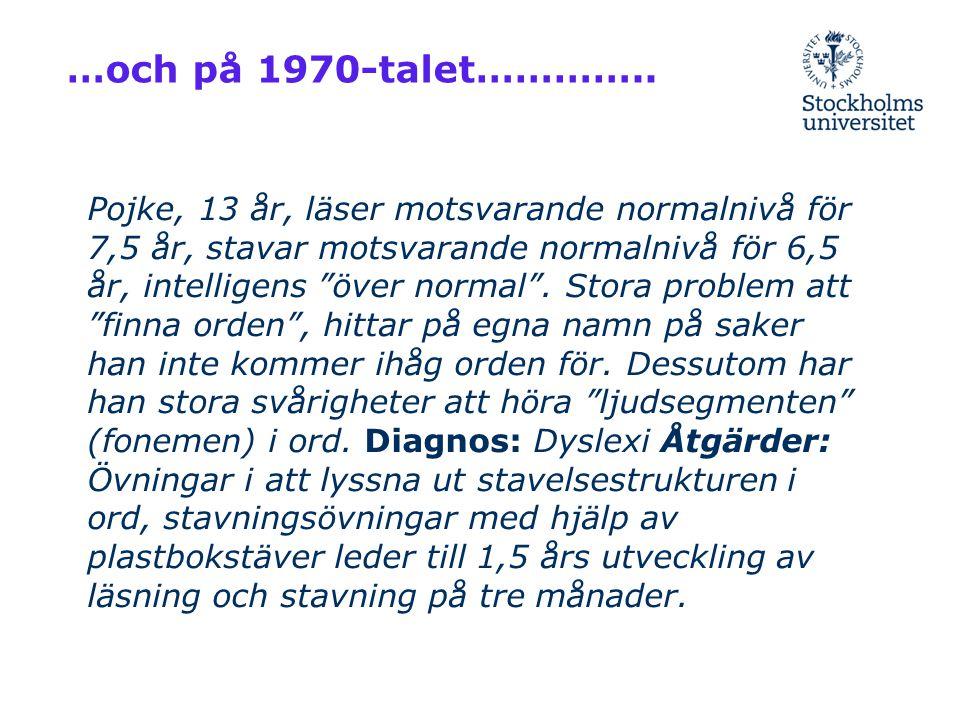 Nordiska forskare har lämnat viktiga bidrag till internationell forskning om dyslexi: 1930- till 1950-talet; Alfhild Tamm, Henning Skydsgaard, Bertil Hallgren Sen lade sig en död hand över dyslexiforskning och dyslexipedagogik i Norden!