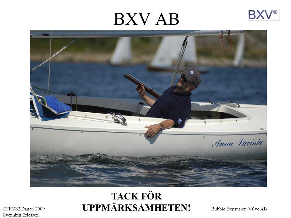 Bubble Expansion Valve ABEFFYS2 Dagen 2009 Svenning Ericsson BXV AB TACK FÖR UPPMÄRKSAMHETEN!