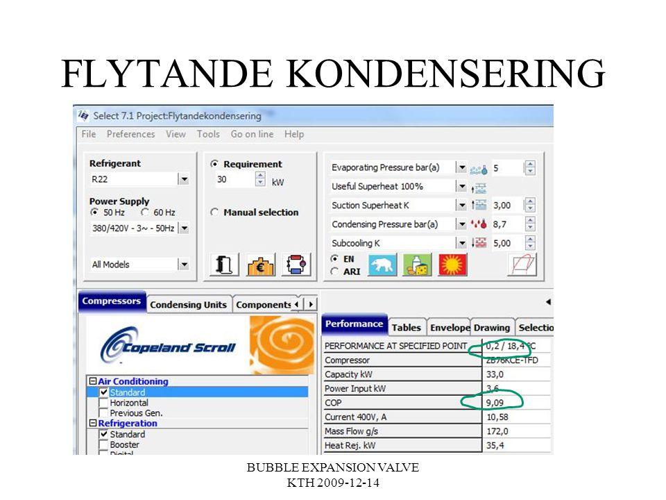 FLYTANDE KONDENSERING BUBBLE EXPANSION VALVE KTH 2009-12-14