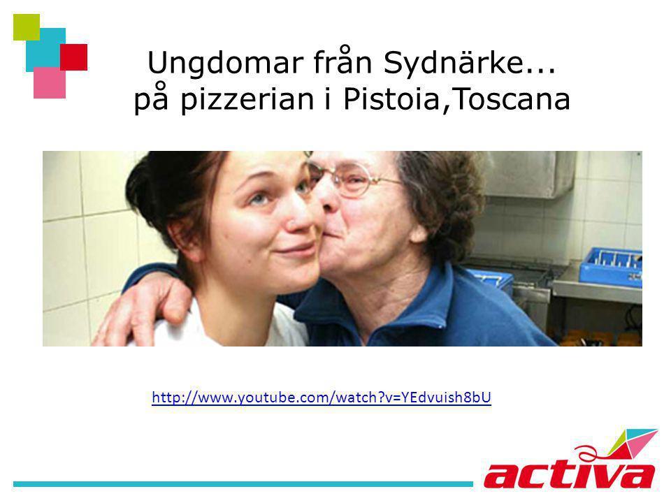 Ungdomar från Sydnärke... på pizzerian i Pistoia,Toscana http://www.youtube.com/watch?v=YEdvuish8bU