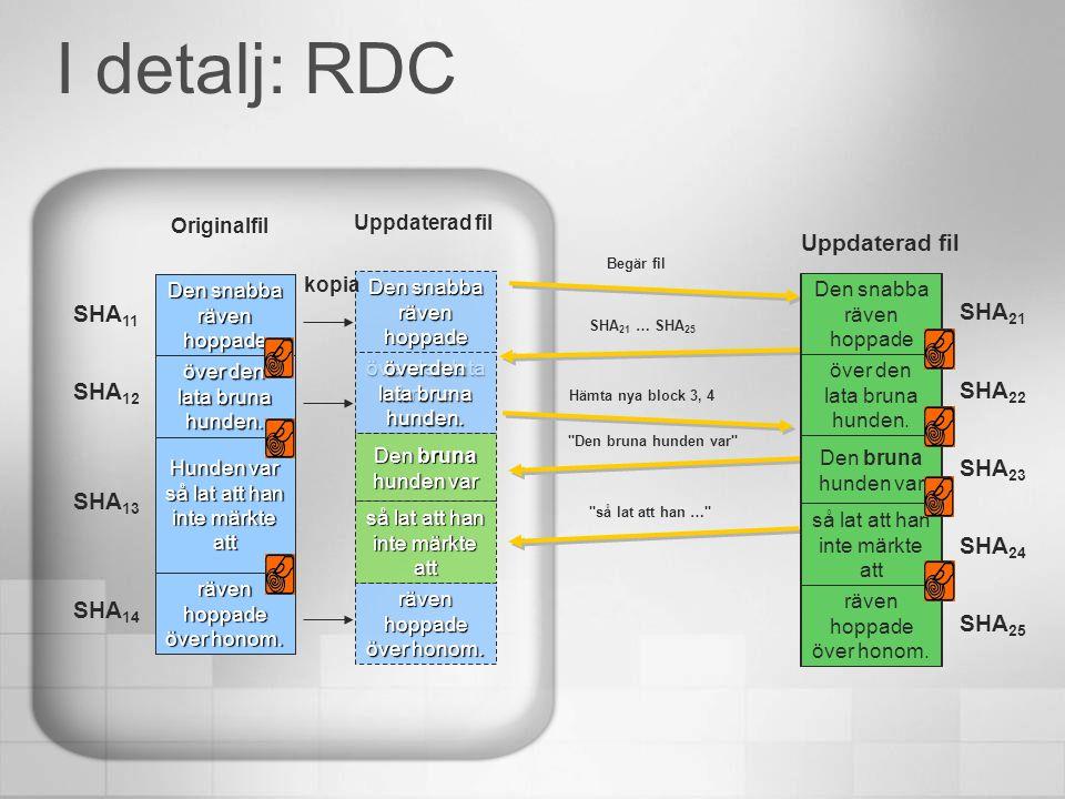 Sammanfattning Utformning av lokal server Preskriptiv vägledning Förebyggande administrationsåtgärder Effektivitet och sänkta kostnader Förbättradinformation Remote Differential Compression (RDC) Distribuerat filsystem (DFS) ISA Server Microsoft Operations Manager Säkerhet och stabilitet ISA Server Active Directory Domain Services GrupprincipDPS