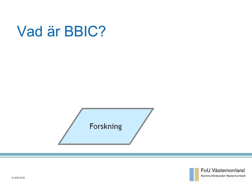 Vad är BBIC? Forskning KA 2003-03-26